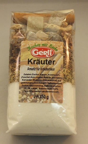 Ansatz f. Kräuterlikör 450 g