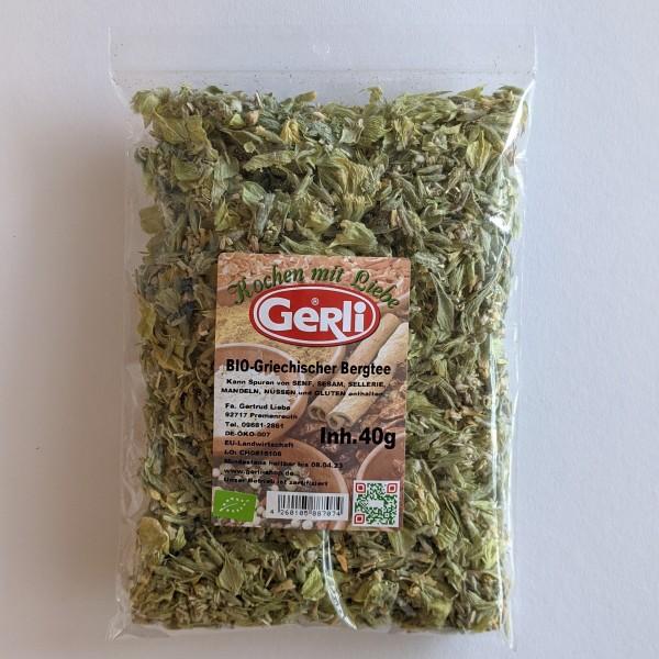 Bio Griechischer Bergtee Gerli Tee 40 g
