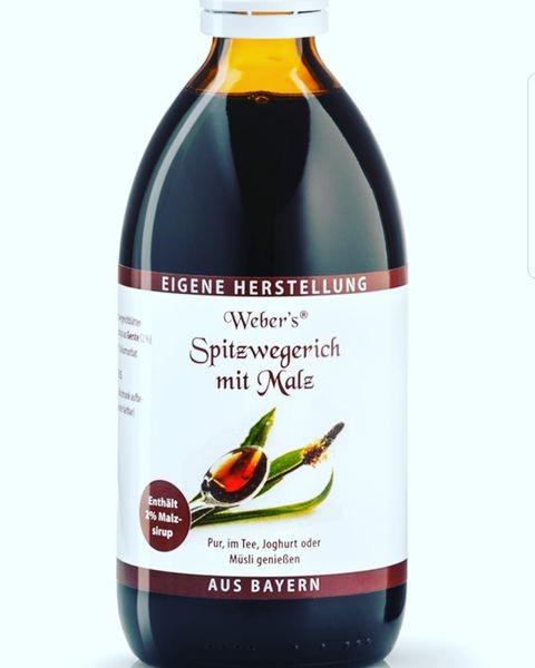 Webers Spitzwegerichsaft mit Malz 250 ml Gerli