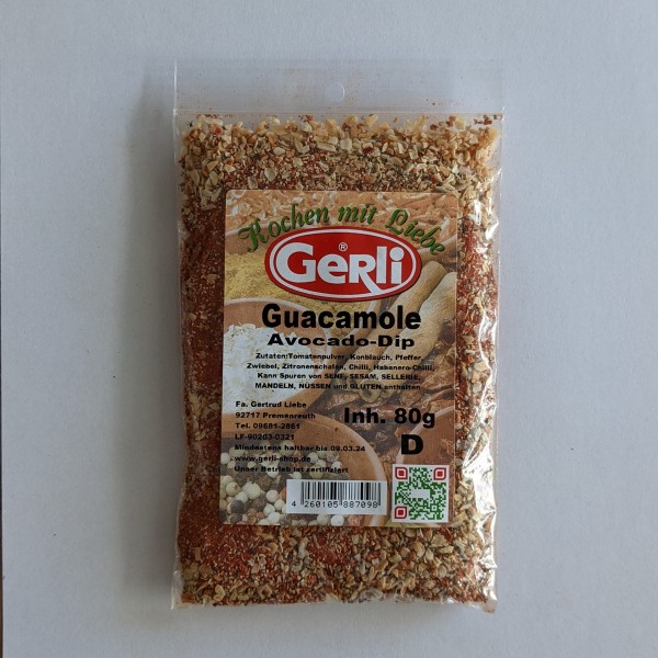 Guacamole Avocado Dip Gerli Gewürze 80 g