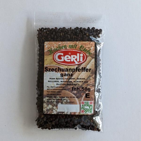 Szechuanpfeffer ganz Gerli Gewürze 50 g