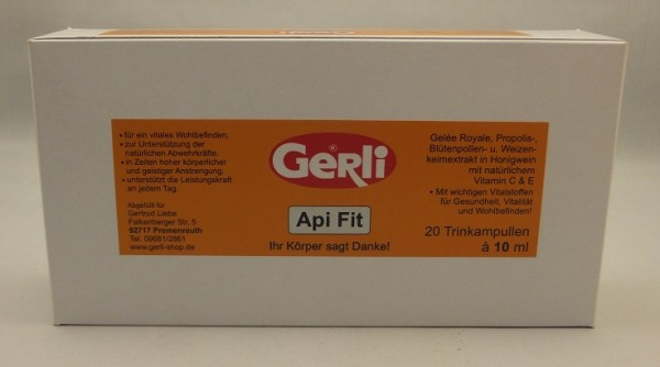 Api Fit 20 Trinkampullen a. 10 ml