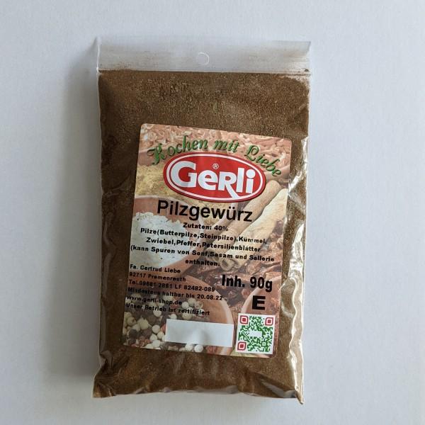 Pilzgewürz mit 40% Pilzen Gerli Gewürze 90 g