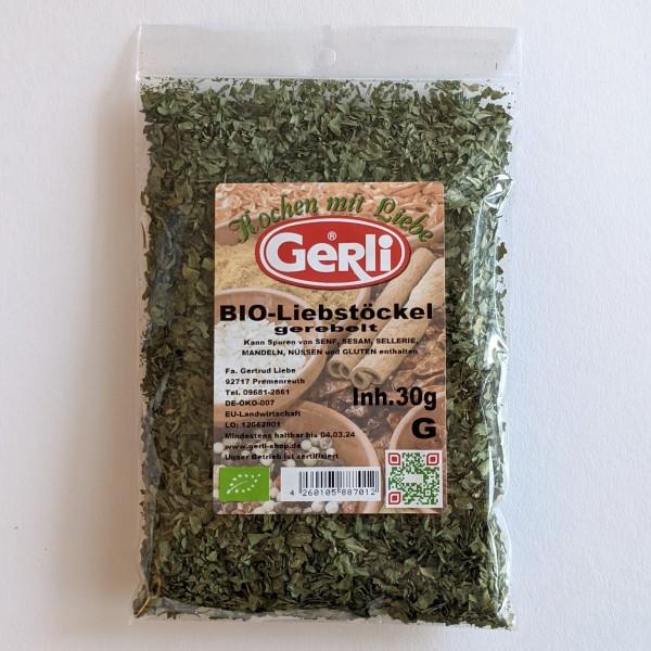 Bio Liebstöckel gerebelt Gerli Gewürze 30 g