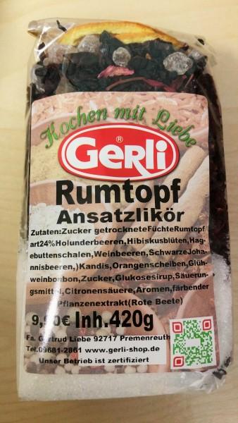 Ansatz f. Rumtopflikör Gerli 450 g
