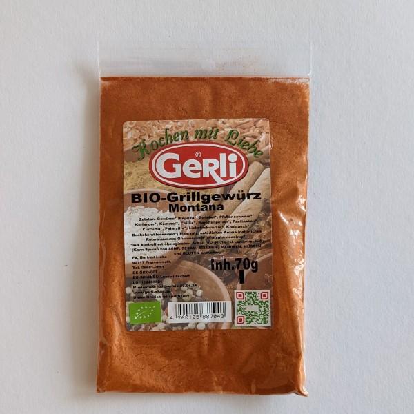 Bio Grillgewürz Montana Gerli Gewürze 70 g