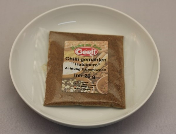 Habanero Chili (extrem scharf ) Gerli Gewürz 20 g