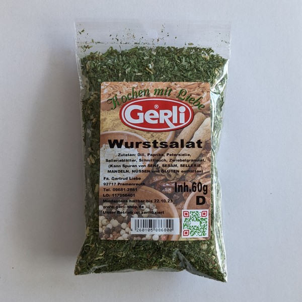 Wurstsalat Gerli Gewürze 60 g